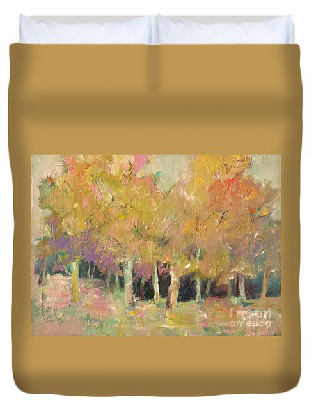 Pale Forest Duvet Cover