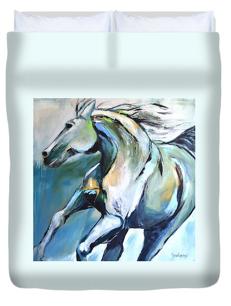 Pale Horse Duvet Cover