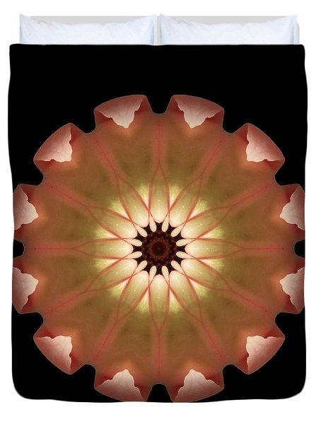 Pale Pink Tulip Flower Mandala Duvet Cover