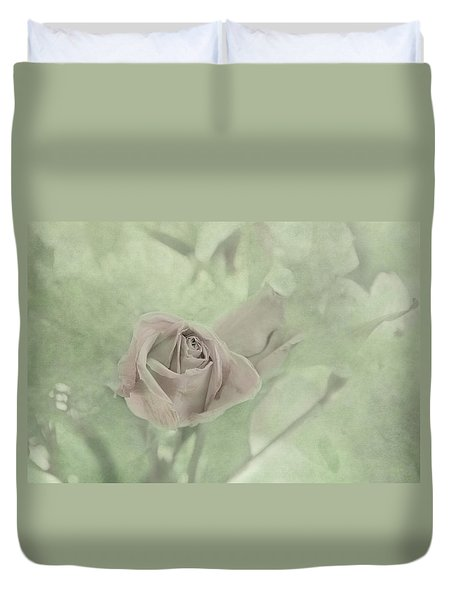 Duvet Cover featuring the photograph Pale Rose by Katie Wing Vigil