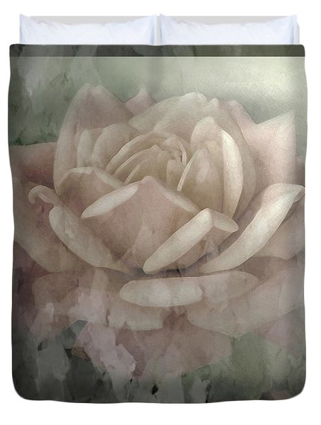 Pale Rose Photoart Duvet Cover by Debbie Portwood