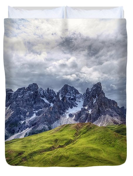 Duvet Cover featuring the photograph Pale San Martino - Hdr by Antonio Scarpi