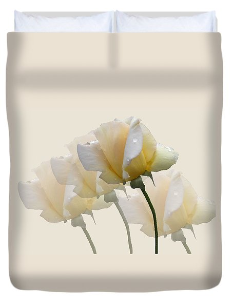Duvet Cover featuring the photograph Pale Yellow by Rosalie Scanlon