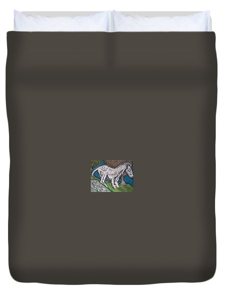 Out There Alone. Duvet Cover