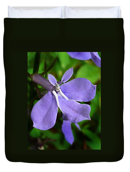 Wild Palespike Lobelia Duvet Cover by William Tanneberger