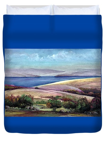 Palestine View Duvet Cover
