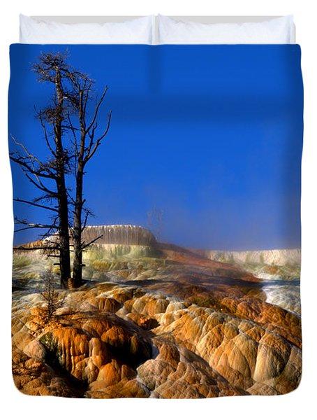 Palette Spring Steam Duvet Cover by Brian Harig