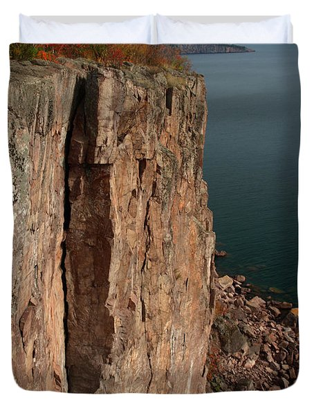 Duvet Cover featuring the photograph Palisade Depths by James Peterson