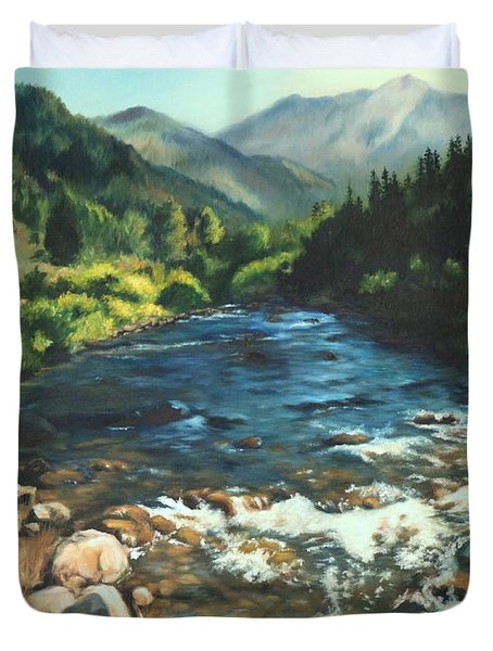 Palisades Creek  Duvet Cover