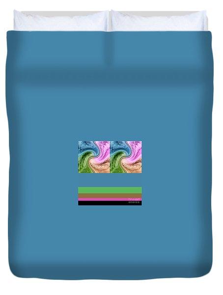 Duvet Cover featuring the digital art Palm Breeze 1 by Ann Calvo