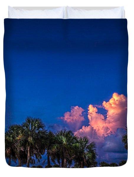 Palm Clouds Duvet Cover