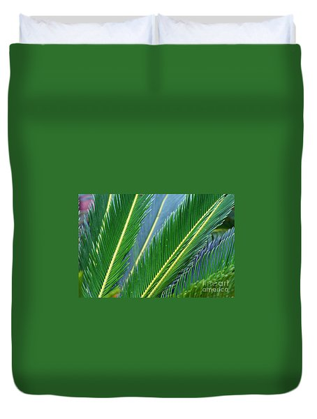 Palm Cycas Fronds Duvet Cover