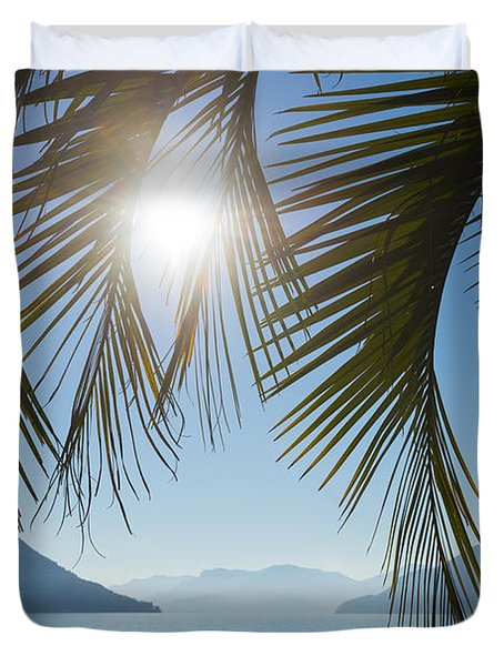 Palm Leaf Duvet Cover by Mats Silvan
