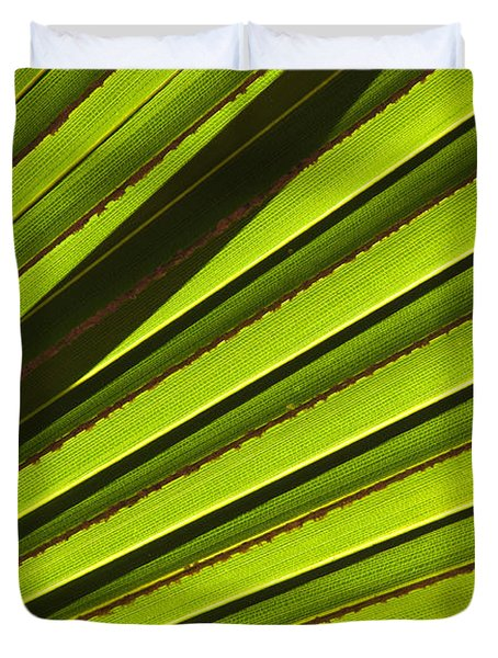 Palm Lines Duvet Cover by Mike  Dawson