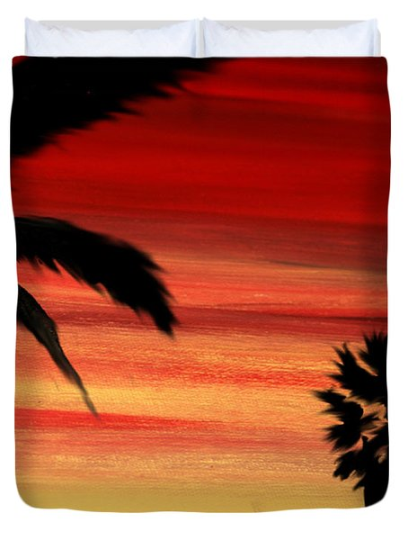 Palm Set Duvet Cover by Ryan Burton