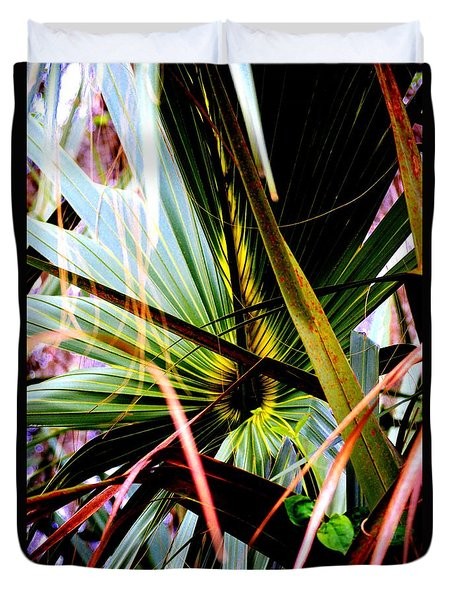 Palm Through The Fronds Duvet Cover
