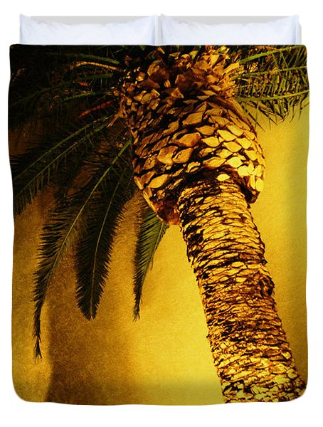 Palm Tree In Vegas. Duvet Cover