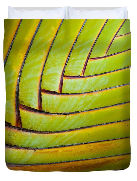 Palm Tree Leafs Duvet Cover