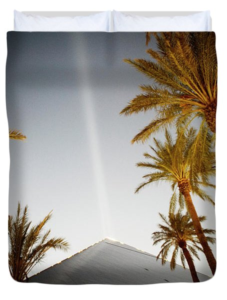 Palm Trees And Roofline Of The Luxor Duvet Cover