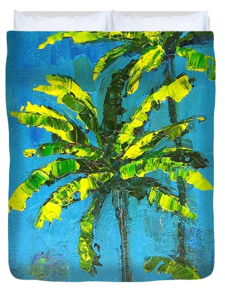 Palm Trees Duvet Cover by Patricia Awapara