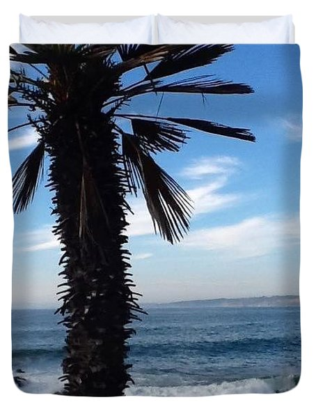 Duvet Cover featuring the photograph Palm Waves by Susan Garren