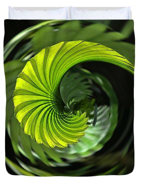 Palmetto Nautilus Duvet Cover