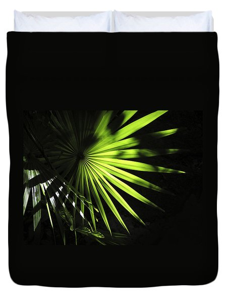 Palmetto And Rays Duvet Cover