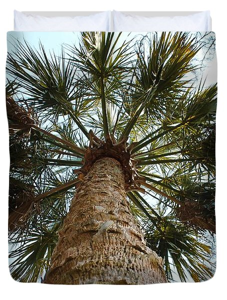 Palms Above Duvet Cover