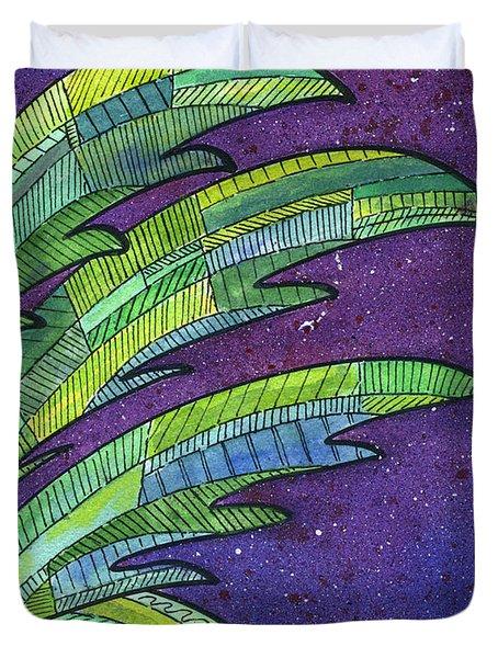 Palms Against The Night Sky Duvet Cover