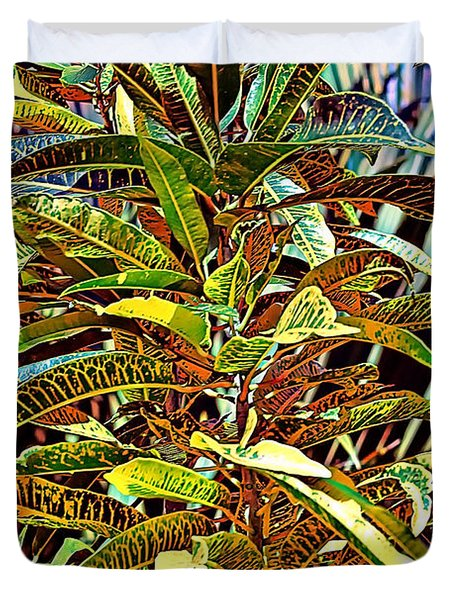 Duvet Cover featuring the photograph Palms by Tom Prendergast