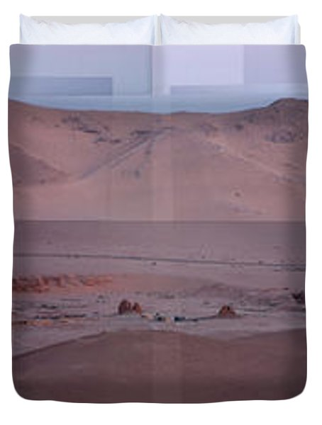 Palmyra Syria Valley Of The Tombs Duvet Cover