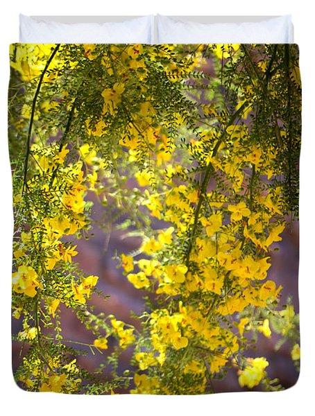 Palo Verde Blossoms Duvet Cover