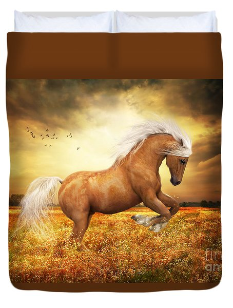 Palomino Horse Sundance  Duvet Cover by Shanina Conway