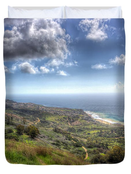 Palos Verdes Peninsula Hdr Duvet Cover by Heidi Smith