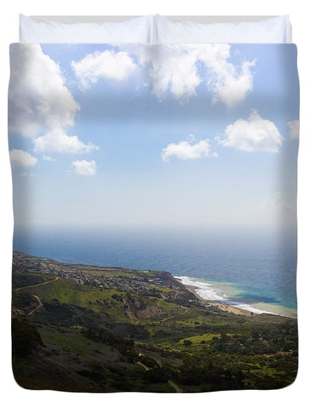 Palos Verdes Peninsula Duvet Cover by Heidi Smith