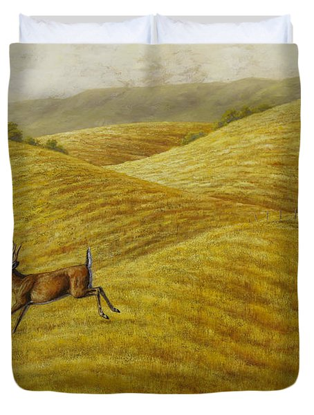 Palouse Farm Whitetail Deer Duvet Cover