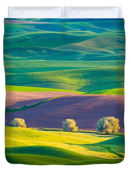 Palouse Field 3 Duvet Cover