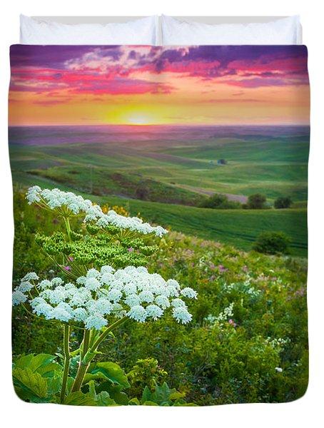 Palouse Flowers Duvet Cover by Inge Johnsson