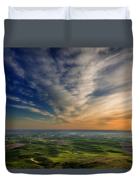 Palouse Sunset Duvet Cover