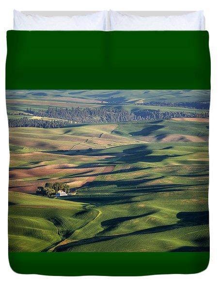 Palouse - Washington - Farms - #2 Duvet Cover by Nikolyn McDonald