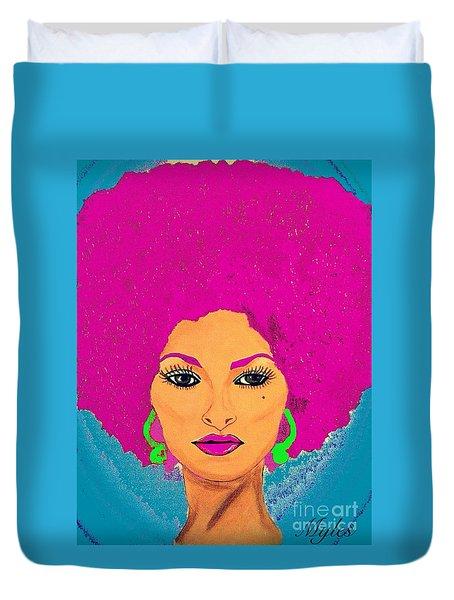 Pam Grier Bold Diva C1979 Pop Art Duvet Cover