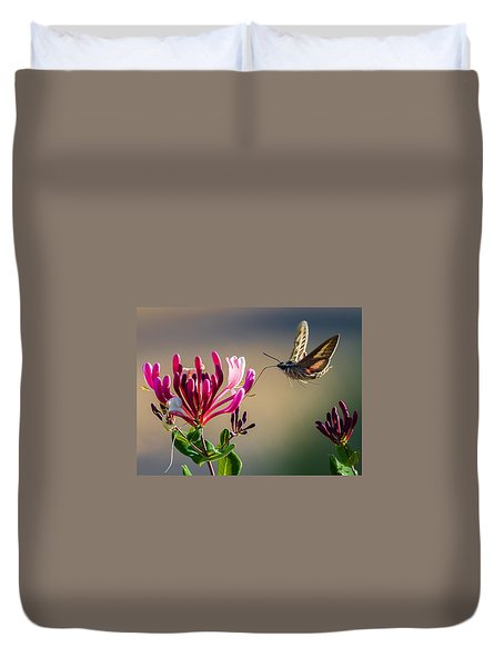 Pam's Pink Sphinx Duvet Cover by Cecil K Brissette