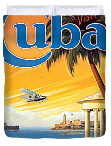 Pan Am Cuba  Duvet Cover