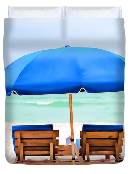 Duvet Cover featuring the photograph Panama City Beach II by Vizual Studio