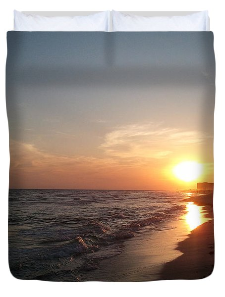 Panama City Beach Sunset Duvet Cover