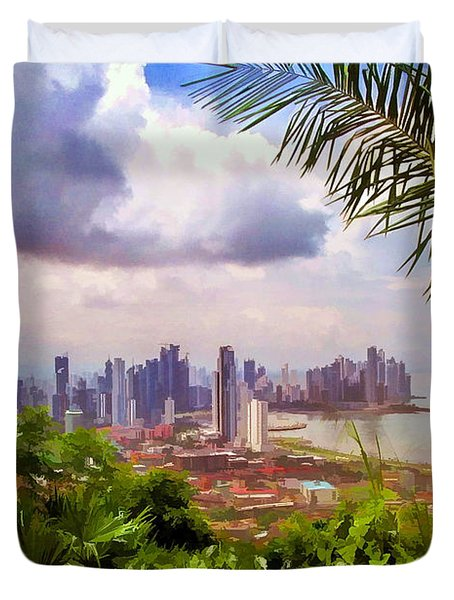 Panama City From Ancon Hill Duvet Cover