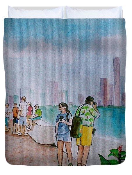 Panama City Panama Duvet Cover