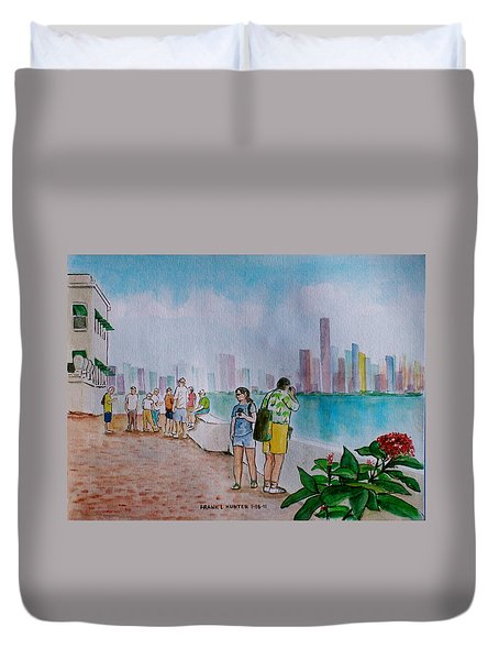 Panama City Panama Duvet Cover by Frank Hunter