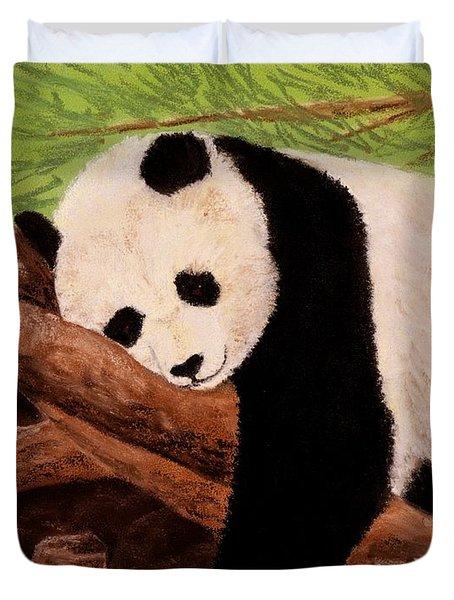 Panda Duvet Cover by Anastasiya Malakhova