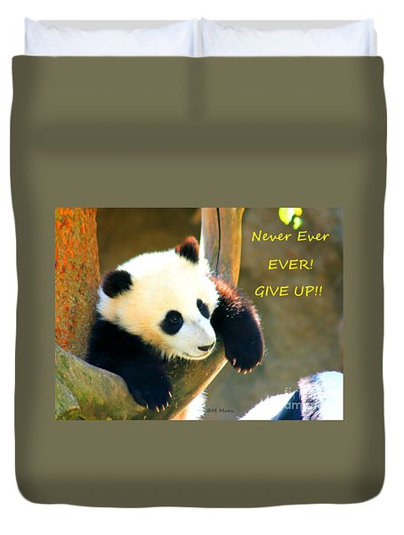 Panda Baby Bear Never Ever Ever Give Up Duvet Cover